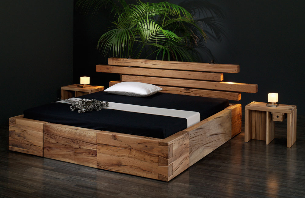 sumpfeiche massiv inkl r ckenlehne mit indirekter beleuchtung. Black Bedroom Furniture Sets. Home Design Ideas