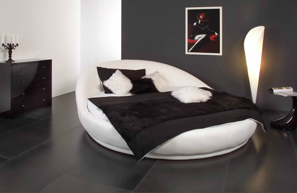 rundes bett dreamland. Black Bedroom Furniture Sets. Home Design Ideas